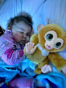Laney sleeping