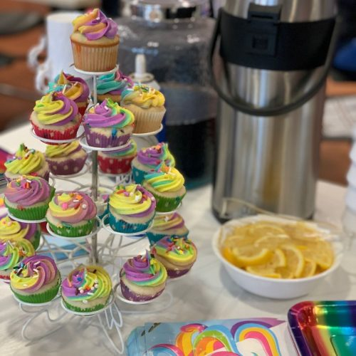 Unicorn party cupcakes