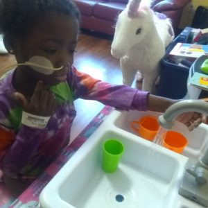 In her room at RMH